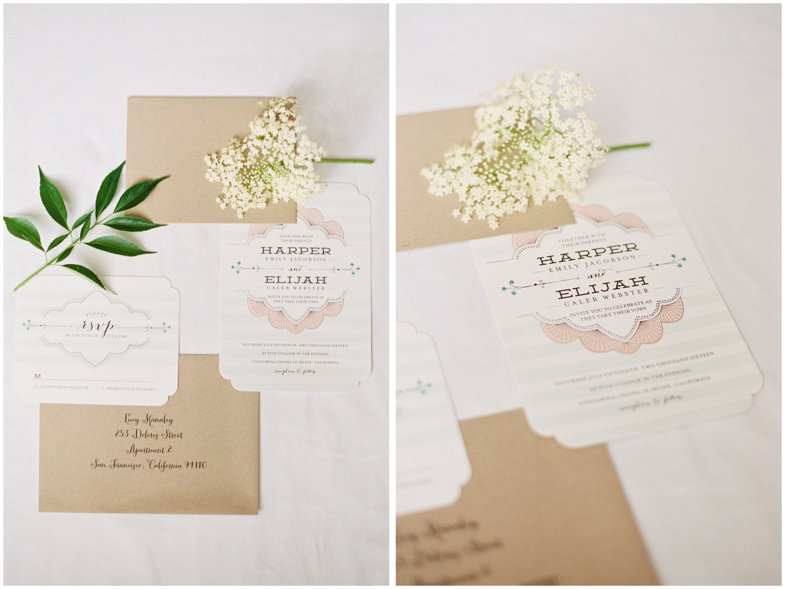 Minted Striped Sweet Nothings | Michelle Mock Photography