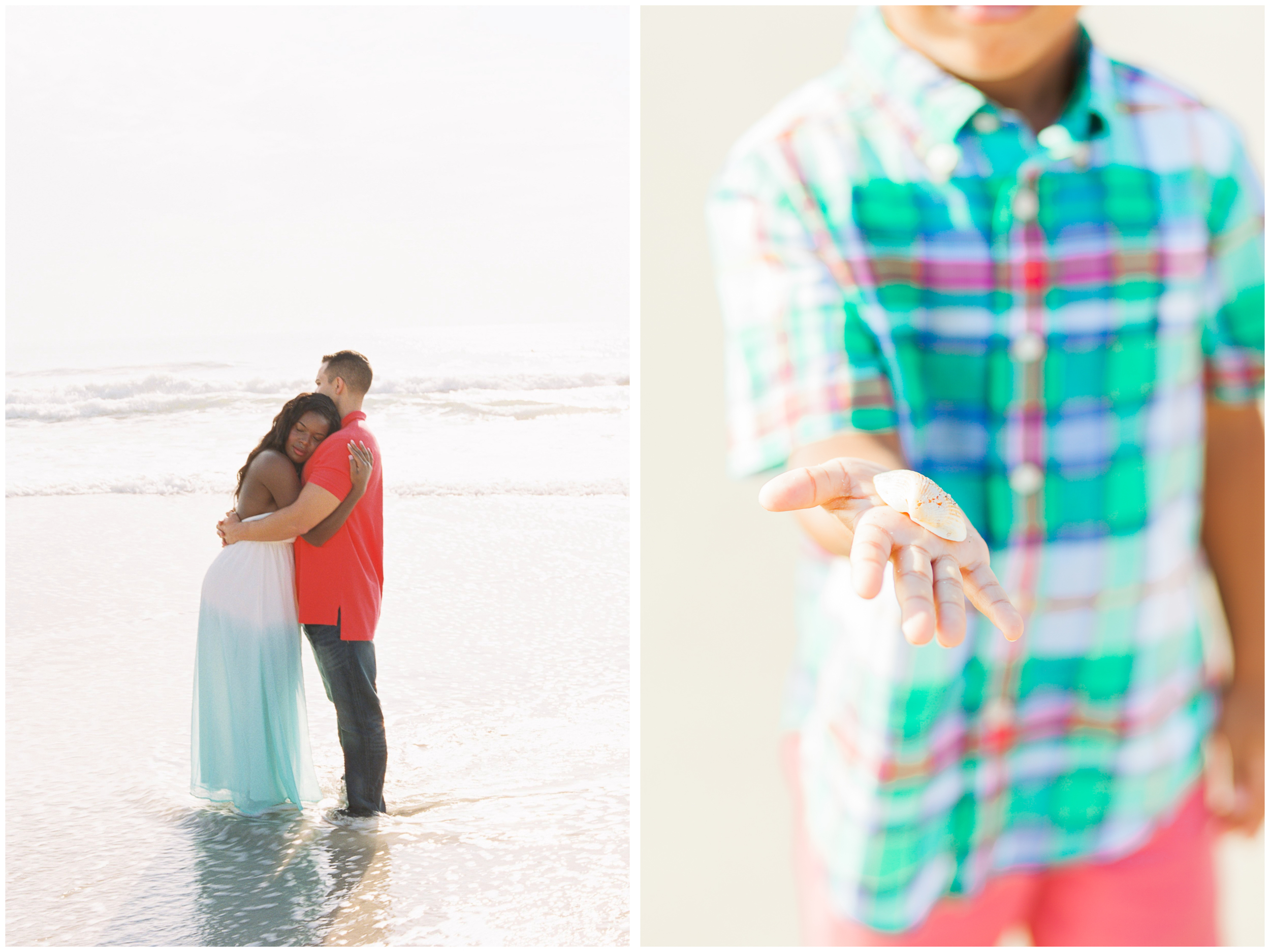 Tiara and Luis Engagement Session | Pelican Beach | Satellite Beach, Florida | Contax 645 Fuji400 | Michelle Mock Photography