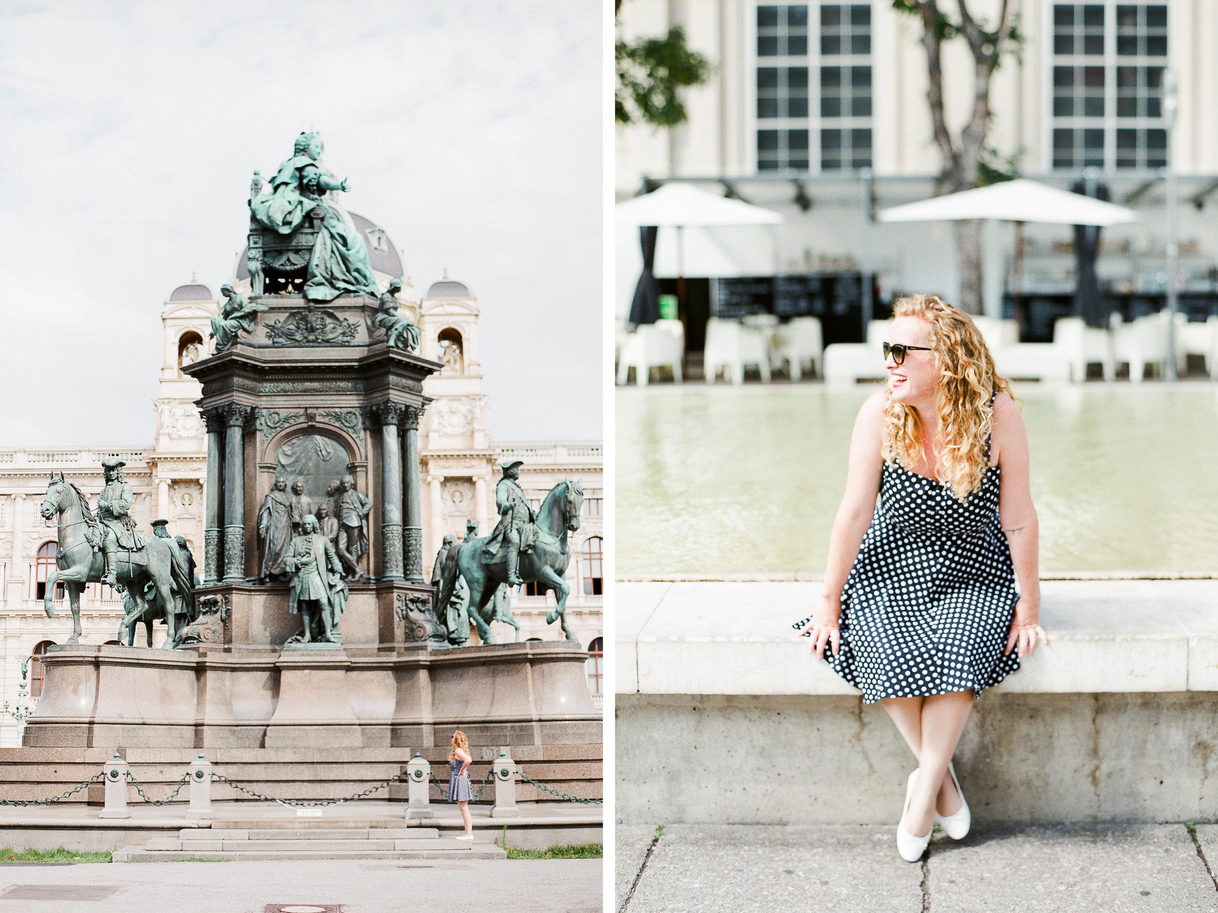 Vienna, Austria | Blogger Portraits | Michelle Mock Photography | Portrait Photographer | Vienna Film Photographer | Contax 645 | Fuji400