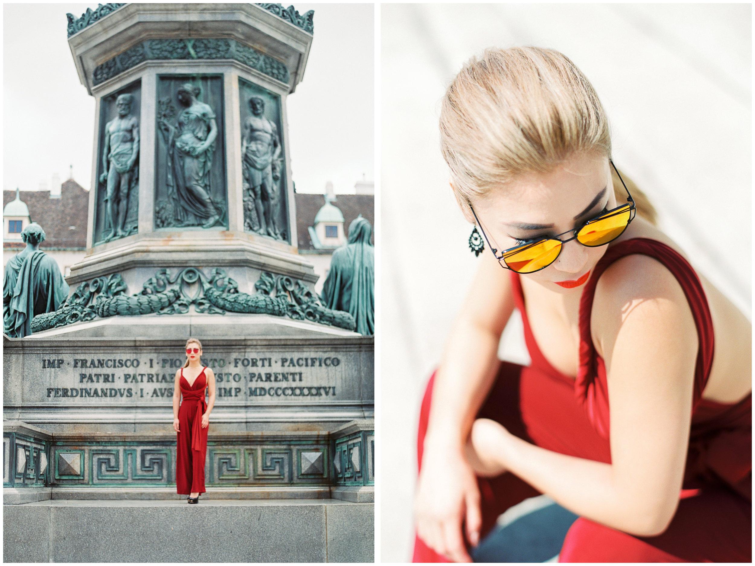 Fashion Portrait | Hofburg Palace, Vienna | Michelle Mock Photography | Vienna Portrait Photographer | Vienna Film Photographer | Contax 645 | Fuji400