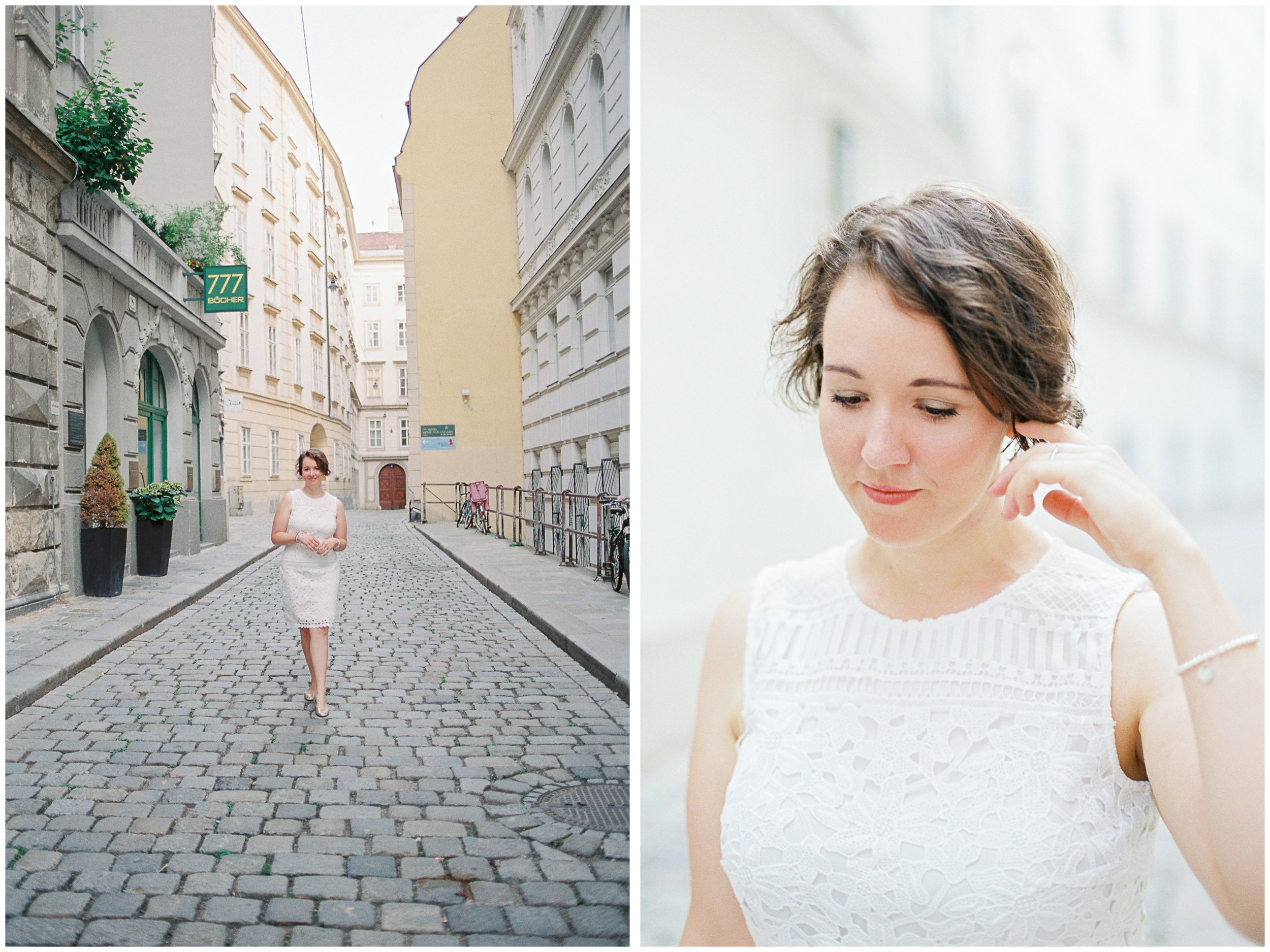 Blogger Portraits | Stephansplatz, Vienna | Michelle Mock Photography | Vienna Photographer | Canon 1V | Fuji400H