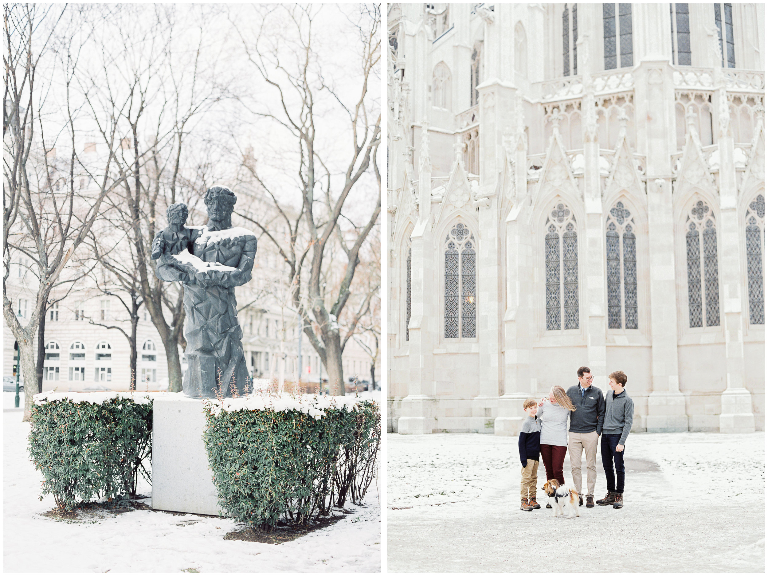 Vienna, Austria | Contax 645 | Fuji400 film | Michelle Mock Photography | Portrait Film Photographer | Snow Family Session