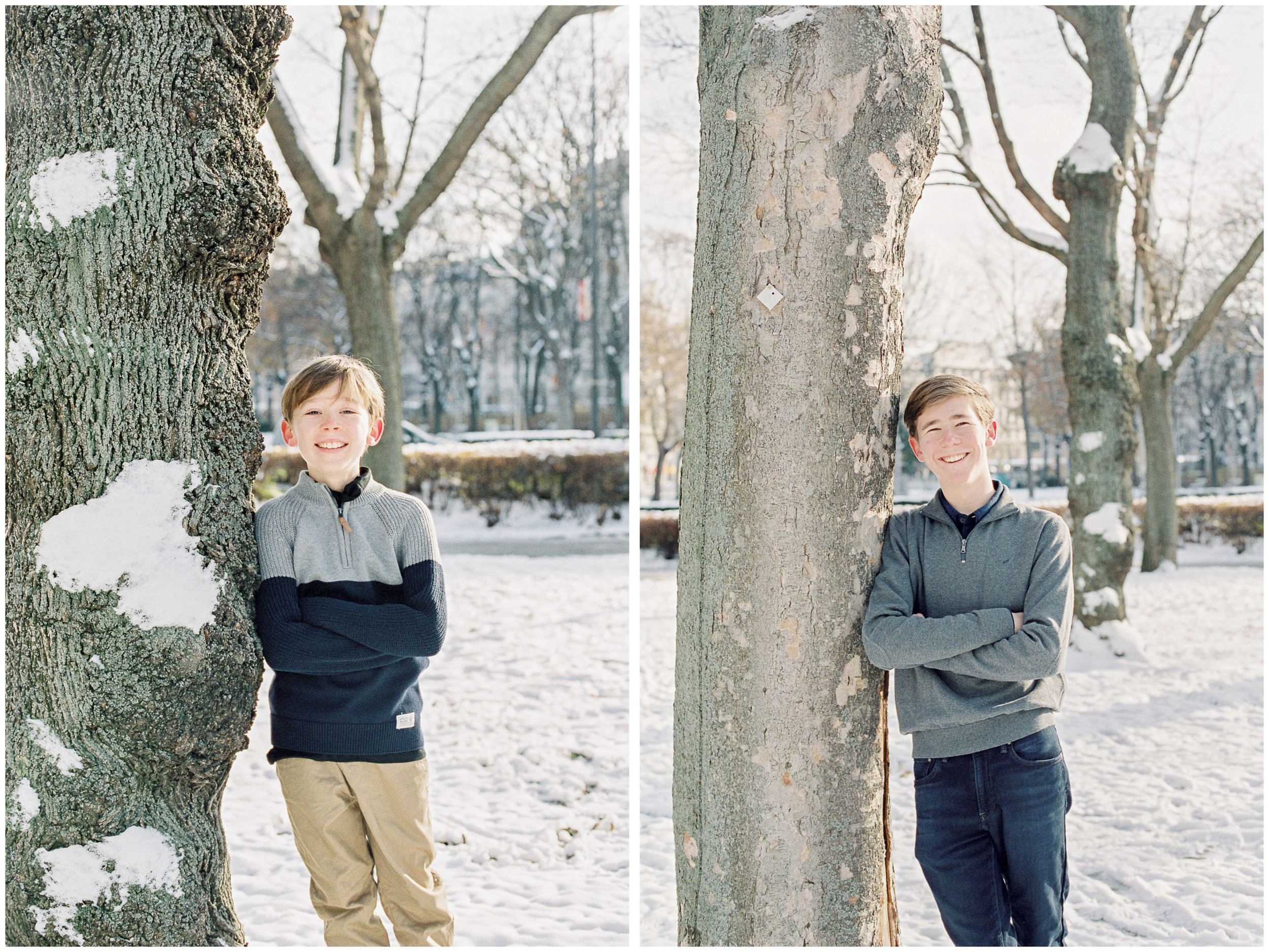 Vienna, Austria | Contax 645 | Fuji400 film | Michelle Mock Photography | Portrait Film Photographer | Winter Family Session