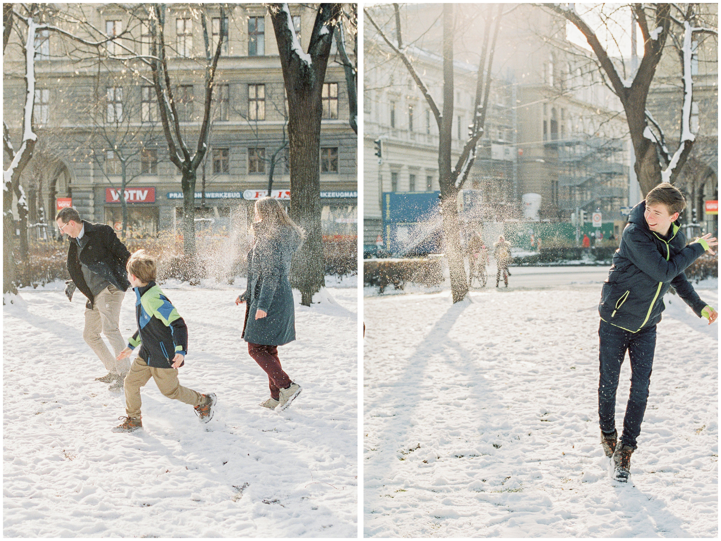 Votivkirche, Vienna Austria | Contax 645 | Fuji400 film | Michelle Mock Photography | Film Photographer | Snow Family Session