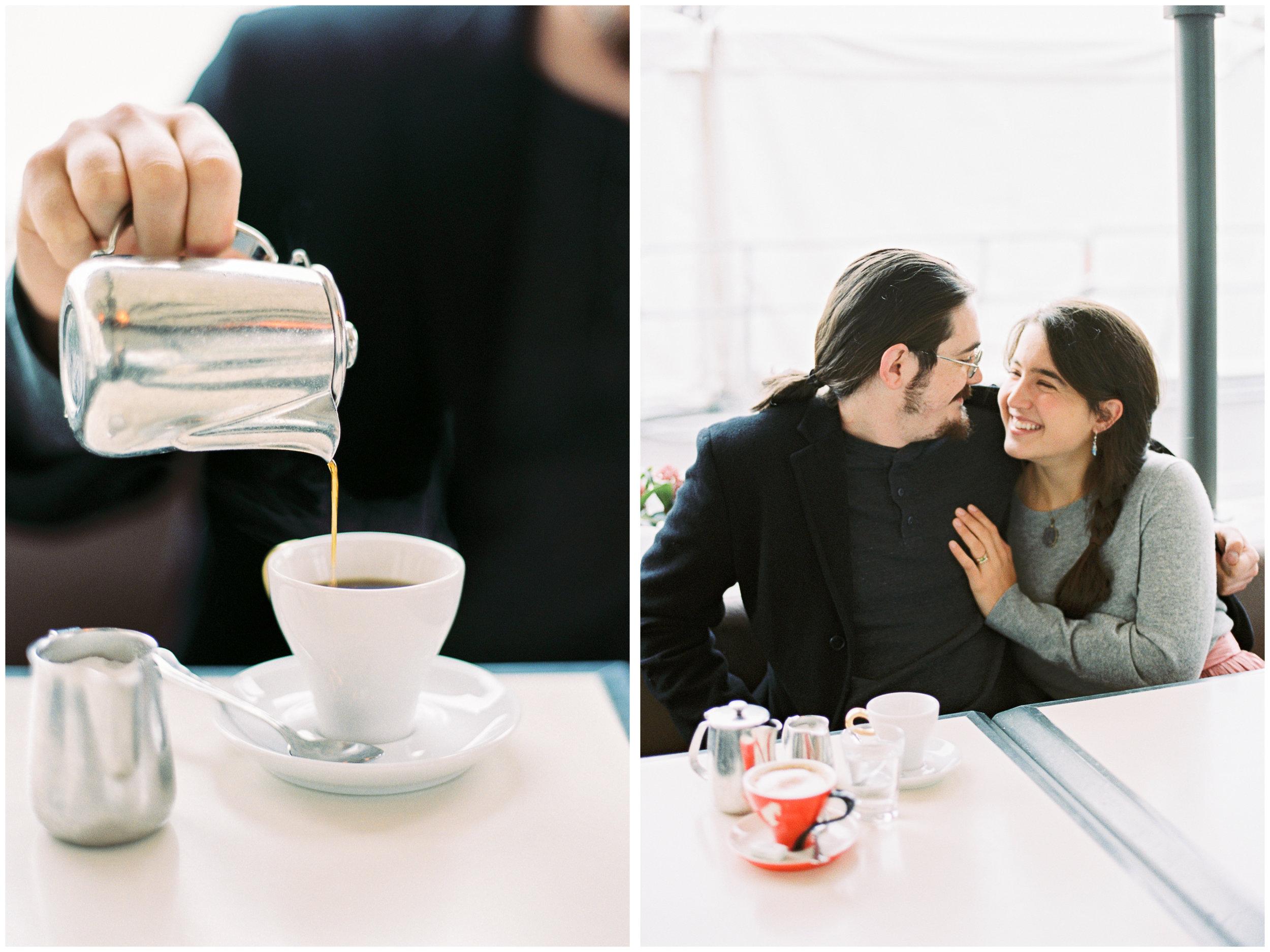 Cafe Portraits | Vienna, Austria | Fuji400H | Contax645 | Film Photographer | Michelle Mock Photography