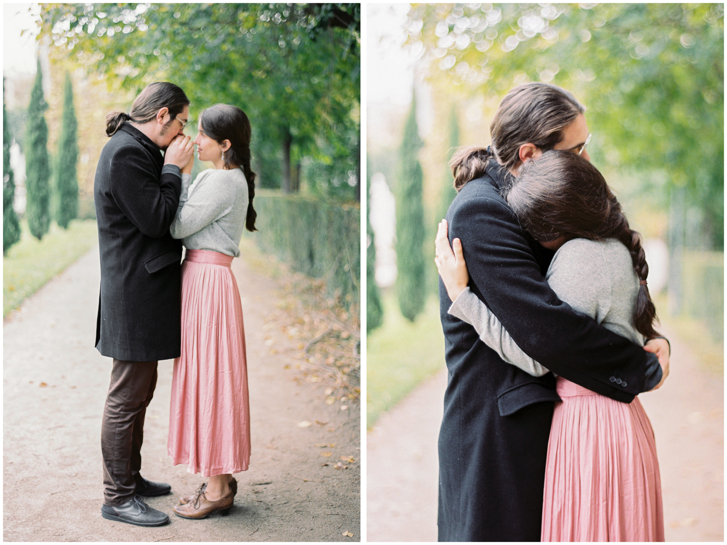 Couple in Love | Vienna, Austria | Fuji400H | Contax645 | Vienna Film Photographer | Michelle Mock Photography