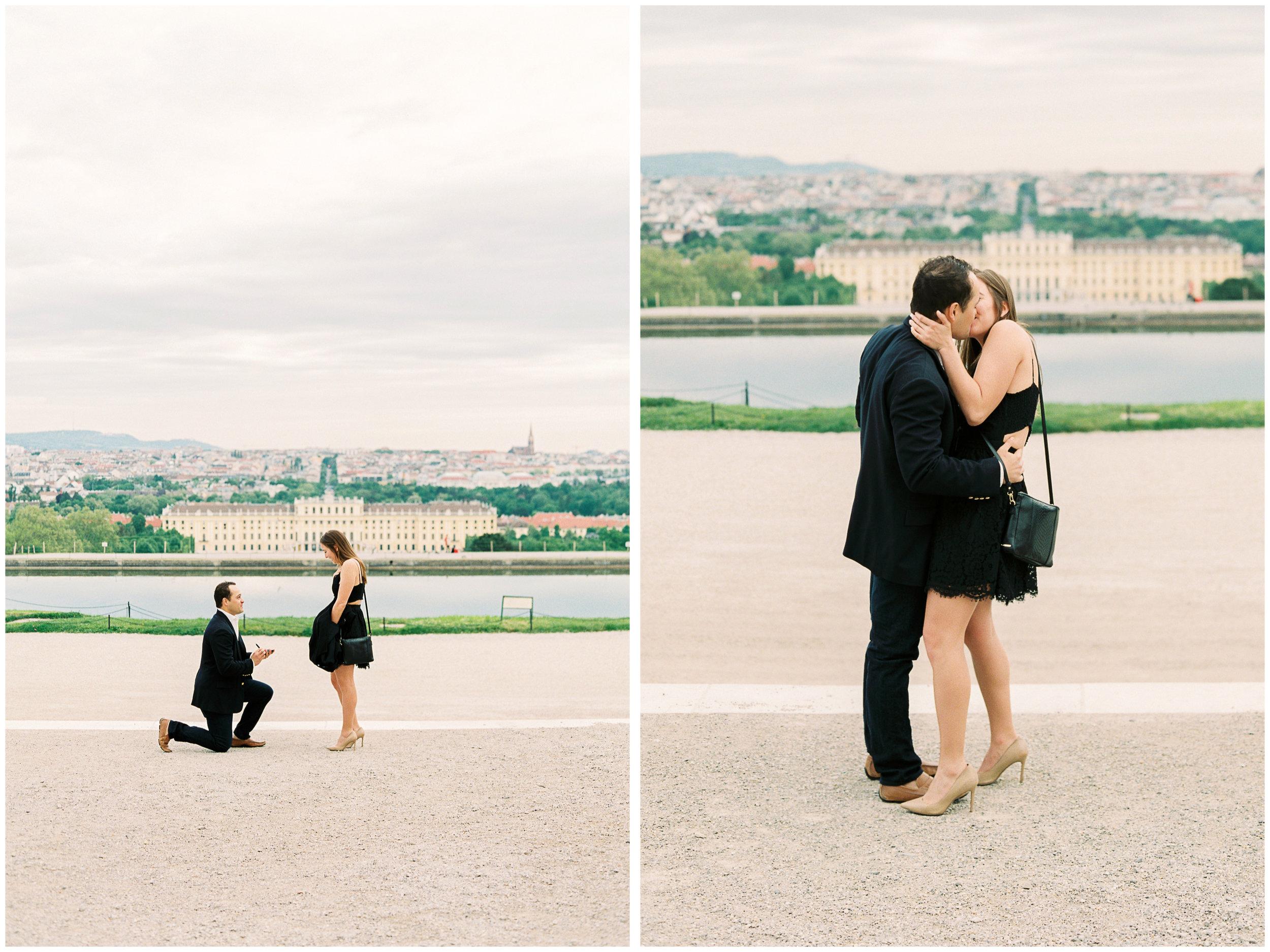 Surprise Proposal | The Gloriette, Vienna | Michelle Mock Photography | Vienna Photographer | Contax 645 | Fuji400H