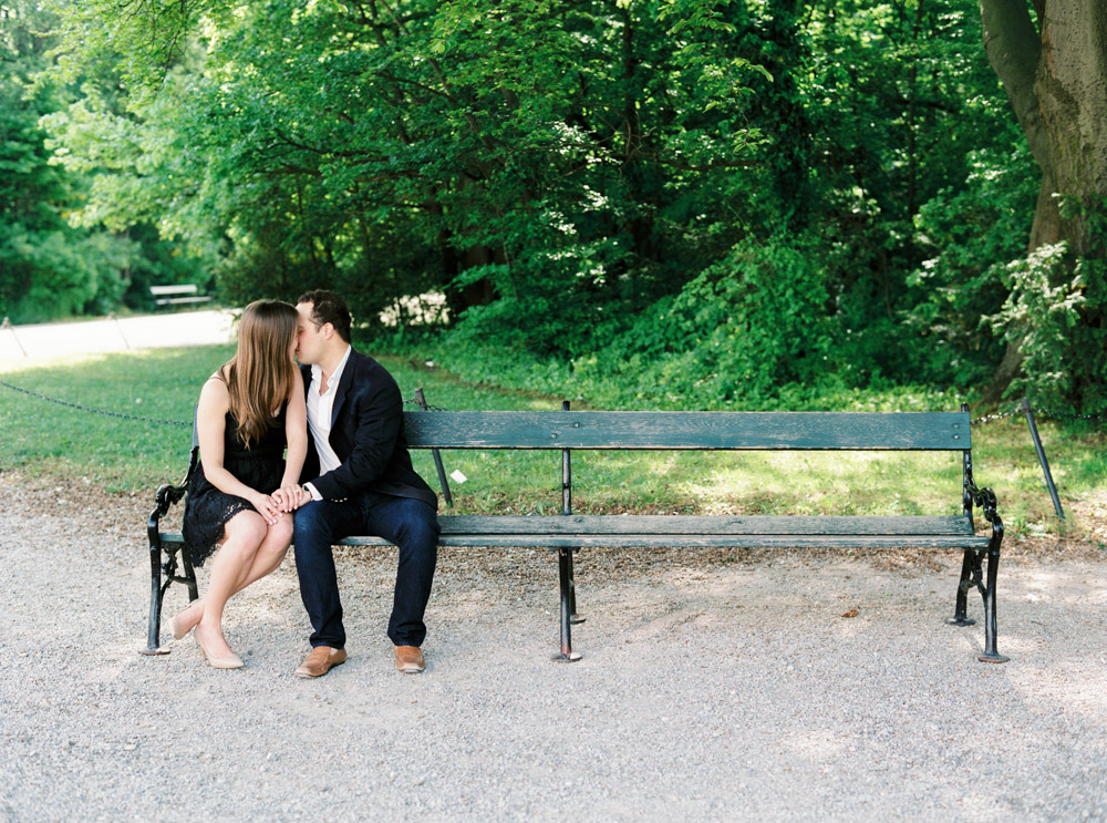 Engagement Proposal Session | The Gloriette, Vienna | Michelle Mock Photography | Vienna Photographer | Contax 645 | Fuji400H