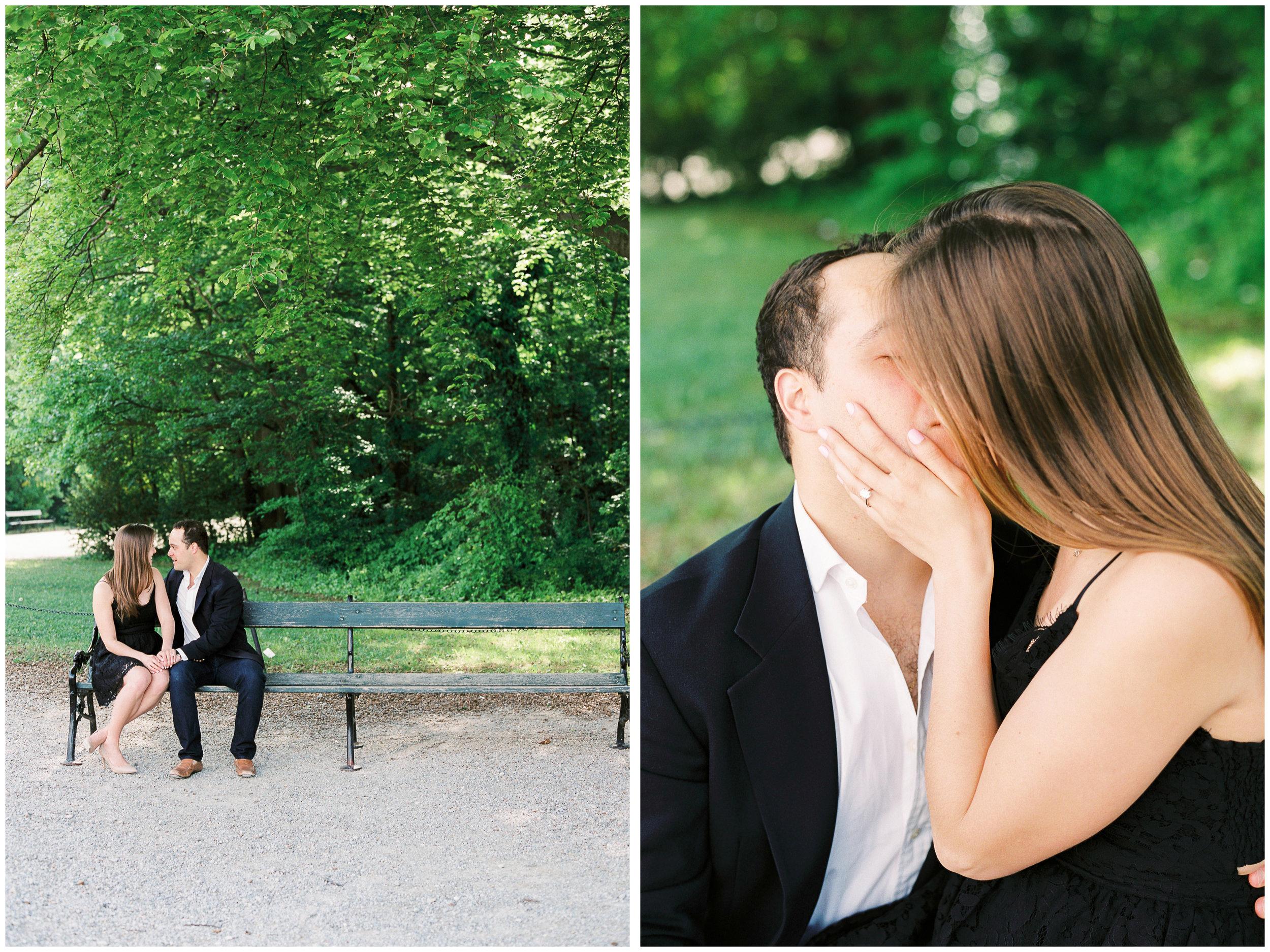 Secret Proposal | The Gloriette, Vienna | Michelle Mock Photography | Vienna Photographer | Contax 645 | Fuji400H