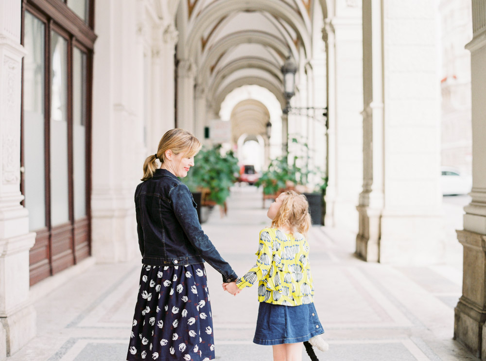 Mother and Daughter film photo session in Vienna
