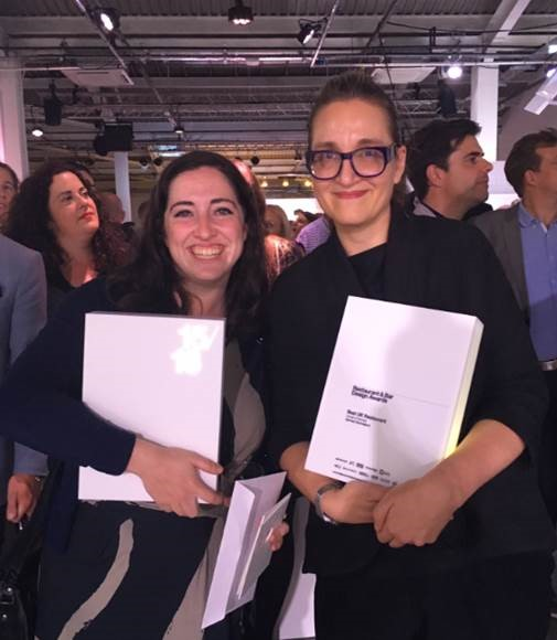 Meredith Hull (architect) and   Tina Norden (Director)   of Conran + Partners at the award ceremony