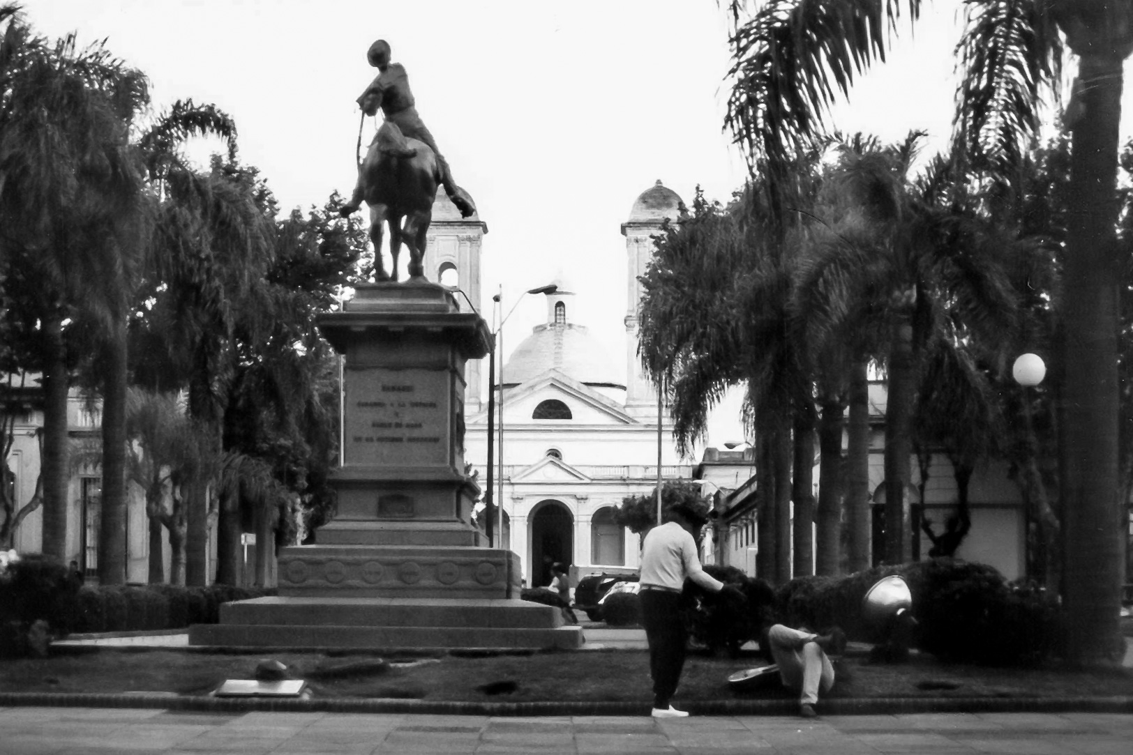 The Classic view of the town square in Minas, Uruguay.  This photo was taken with my Canon Rebel G shot on Tmax.  Man, that was a life time ago, but you know what? The feelings come rushing back just seeing this photo. What an amazing time I had in a butifle place.