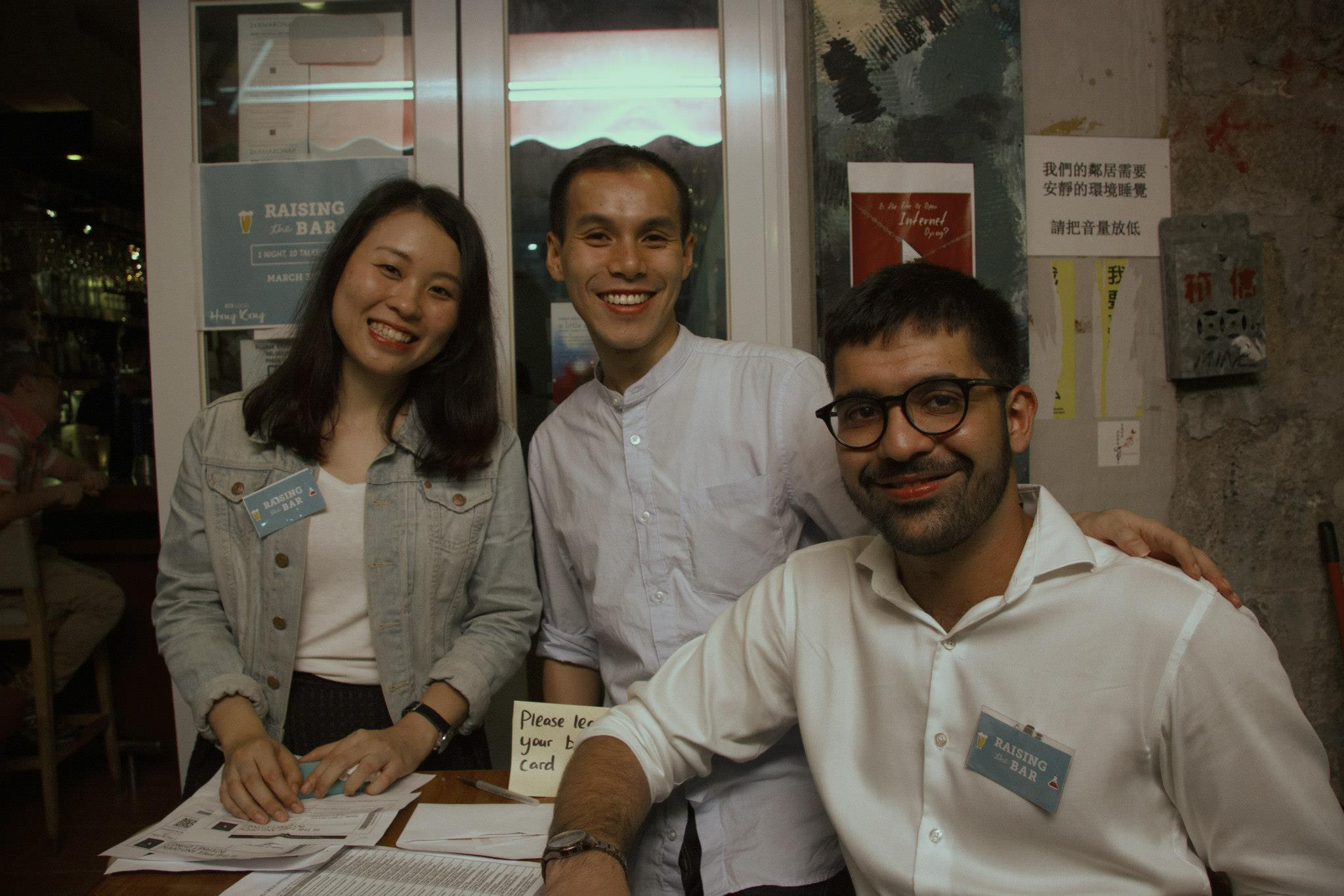 RTB volunteers and teammate at Prof. Tsui's talk on Internet Freedom @ Club 71