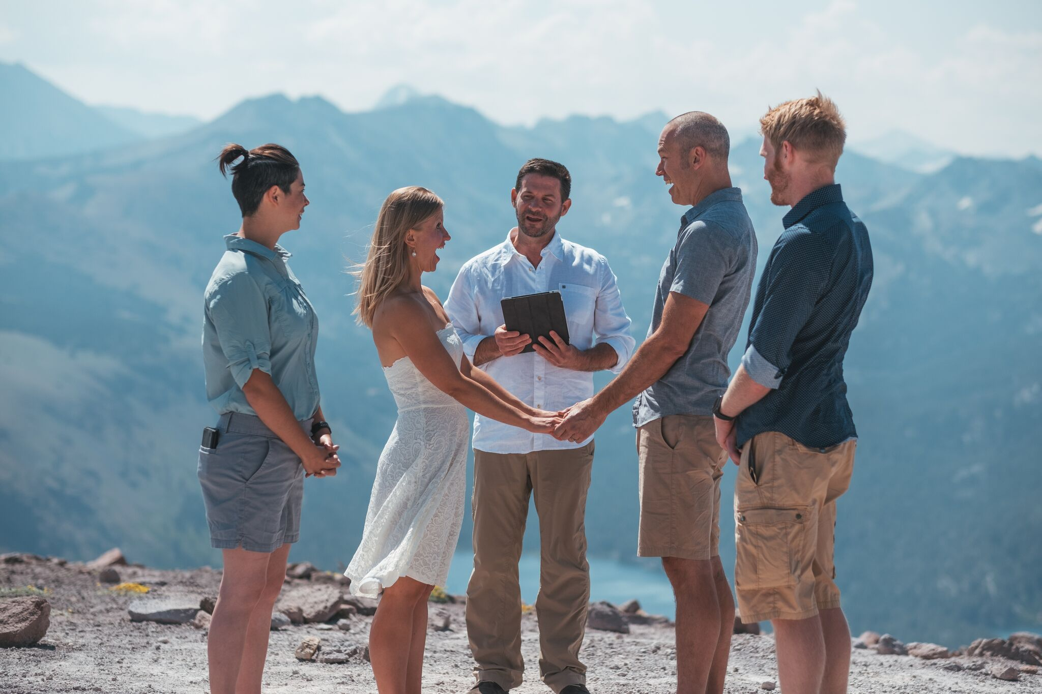We are announced husband and wife at 11,000 feet!
