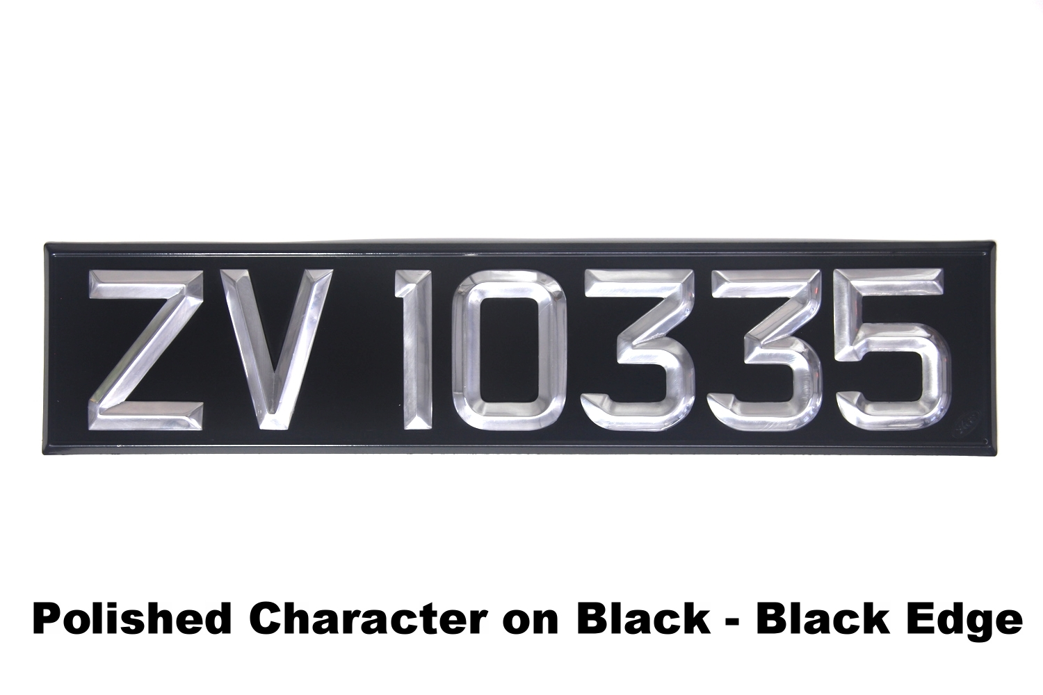 Polished Character on Black - Black Edge
