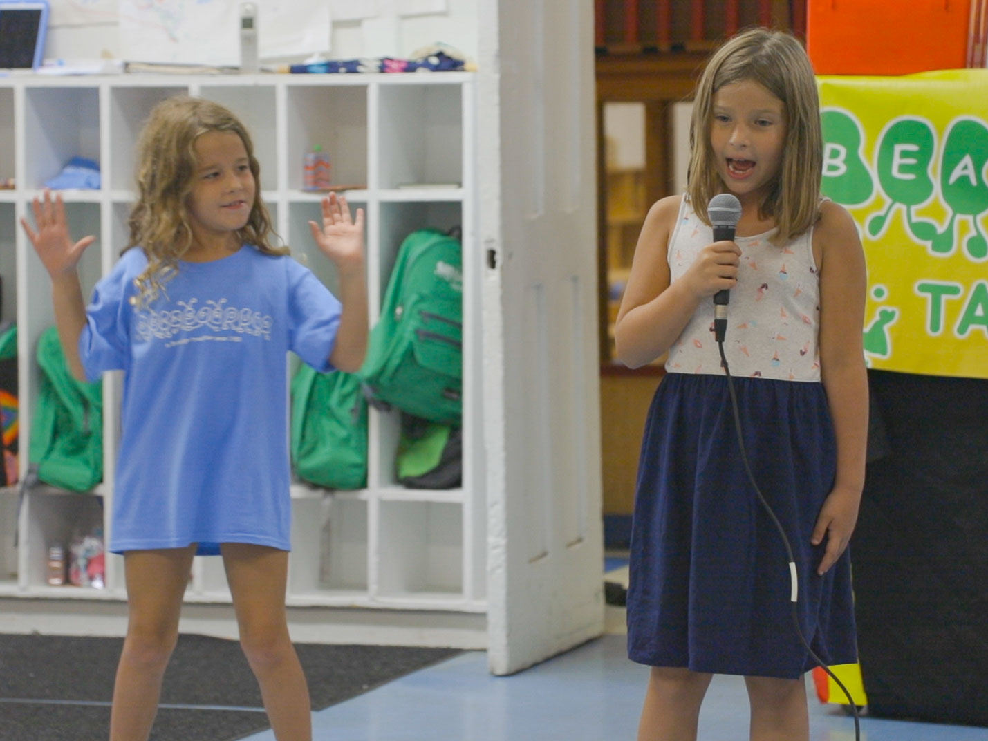 We've Got Talent - One of the most exciting activities at camp is our weekly talent show, and at Beansprouts day camp, we have plenty of them! Show off your latest gymnastics routine, sing a song with friends, or tell us a few of your favorite jokes!