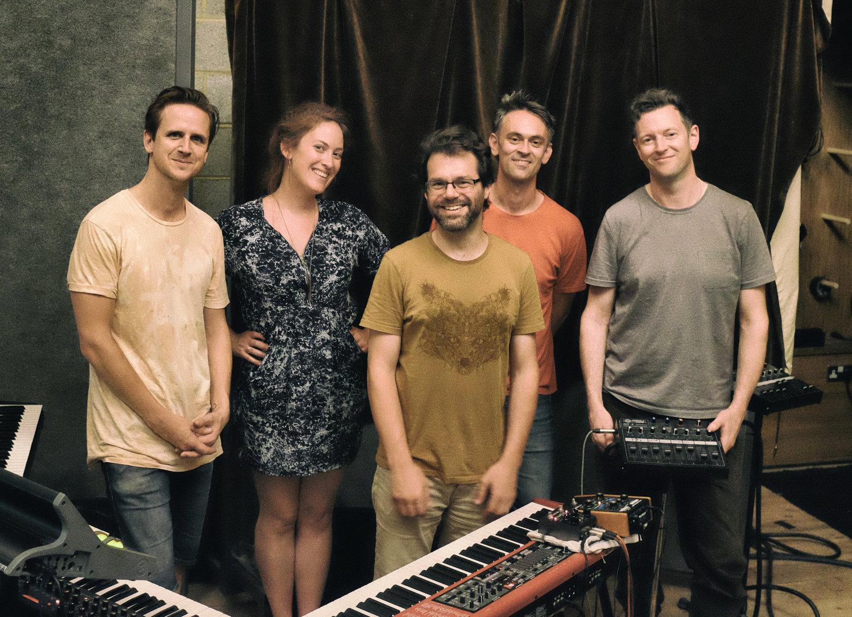 Chris Higginbottom (drums), Fini Bearman (vocals), Tom Cawley (keys), Gareth Lockrane (flute), Rob Mullarkey (bass).