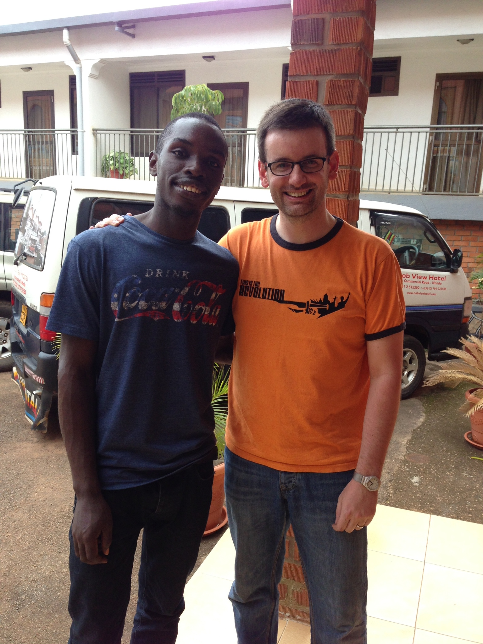 Me and Paul in Uganda, March 2014