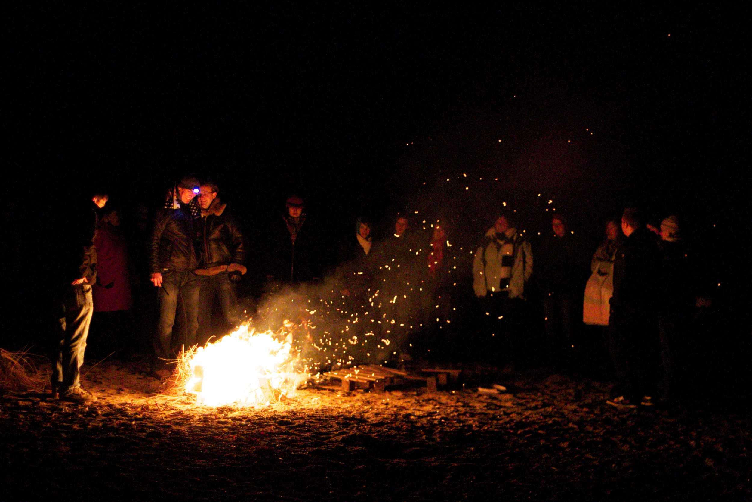 Bonfire at Lunderston Bay3-ColinJCampbell