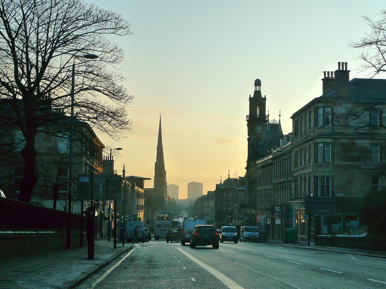 Great Western Road Sunrise Glasgow-ColinJCampbell