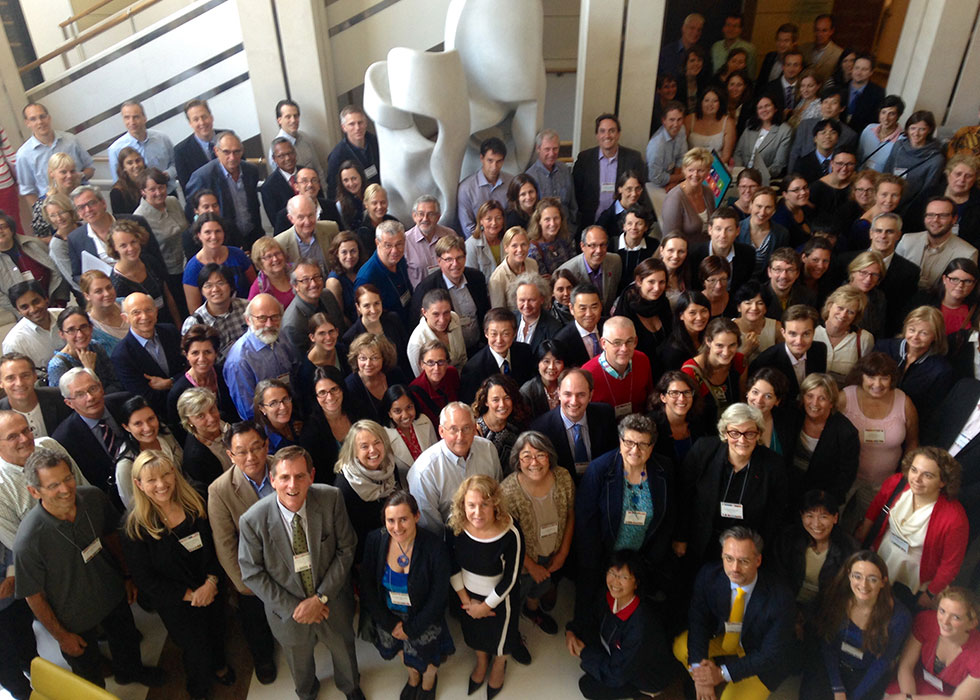 Participants at the 9th International Research Symposium on Marfan Syndrome and Related Conditions in Paris, France, September 2014