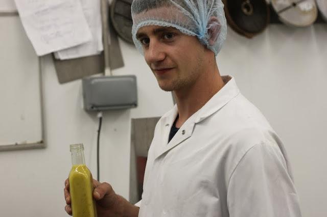 Sam, mustard-maker extraordinaire.