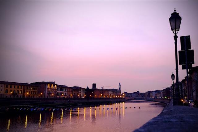 Pisa at dusk