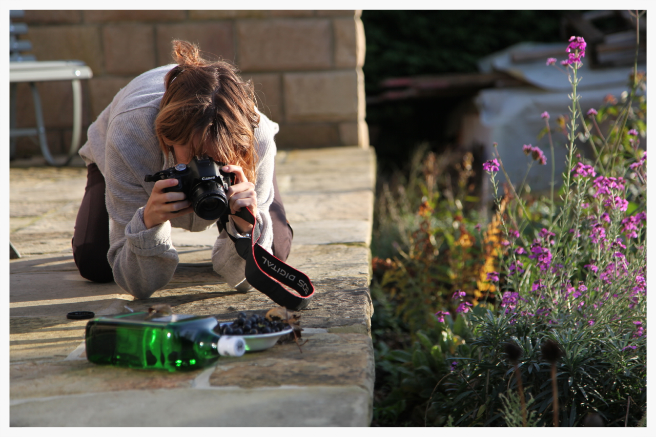 Sometimes you just need to kneel on the ground and take photos of a bottle of gin. Right?
