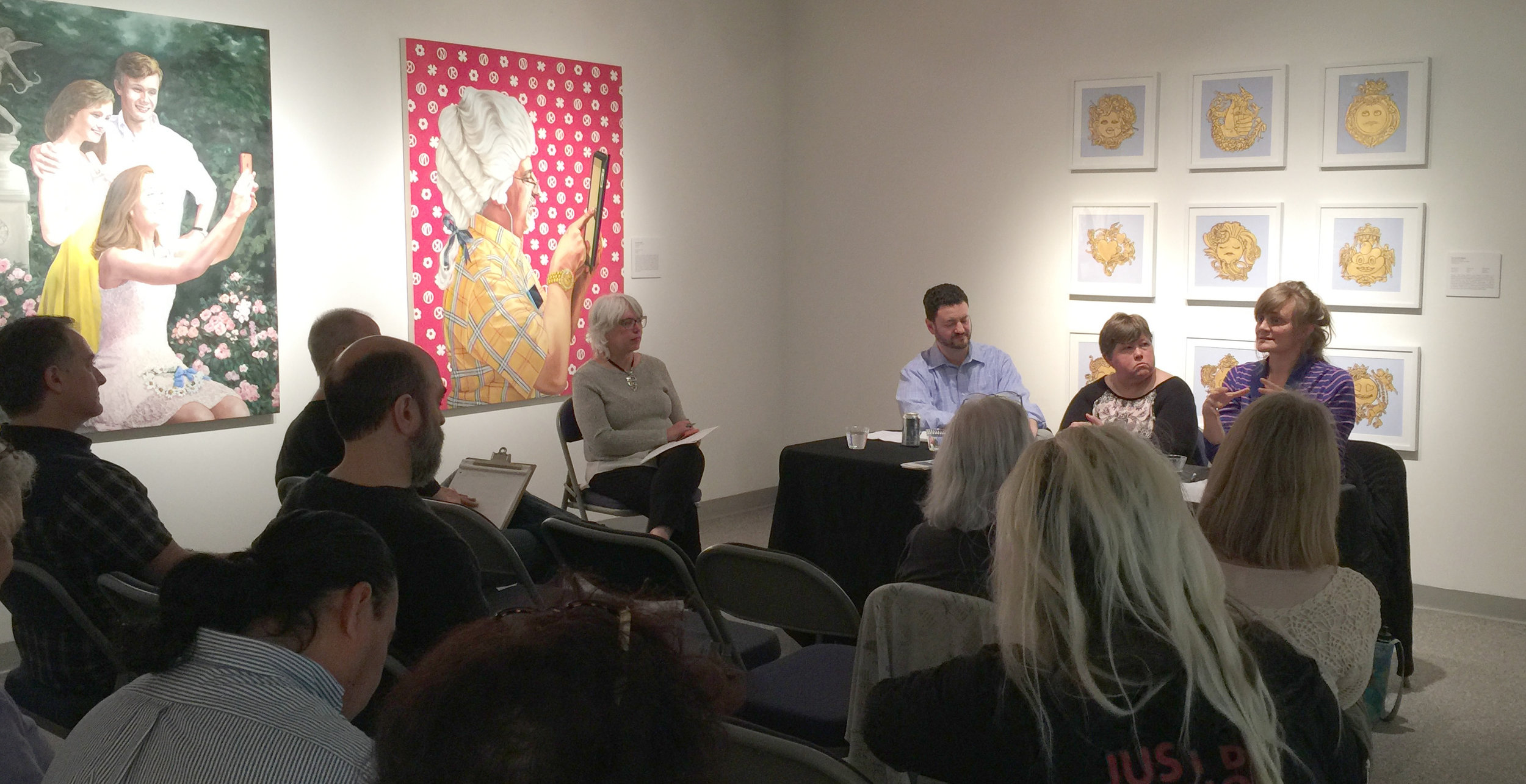 The Business of Art panelists (left to right): Moderator Sandy Martini, Jared Green, Gayle Mahoney and Gwen Steemel