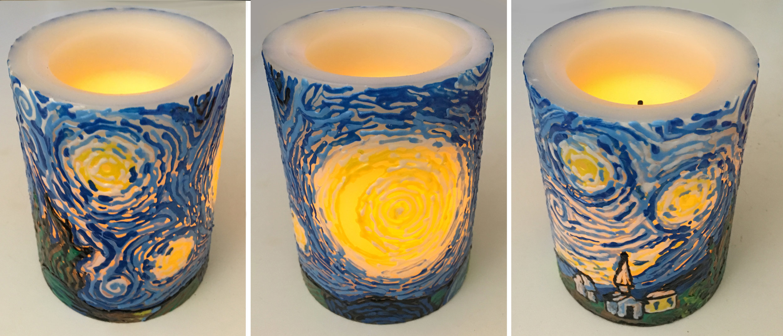 Marabu Candle Liner on wax LED candle