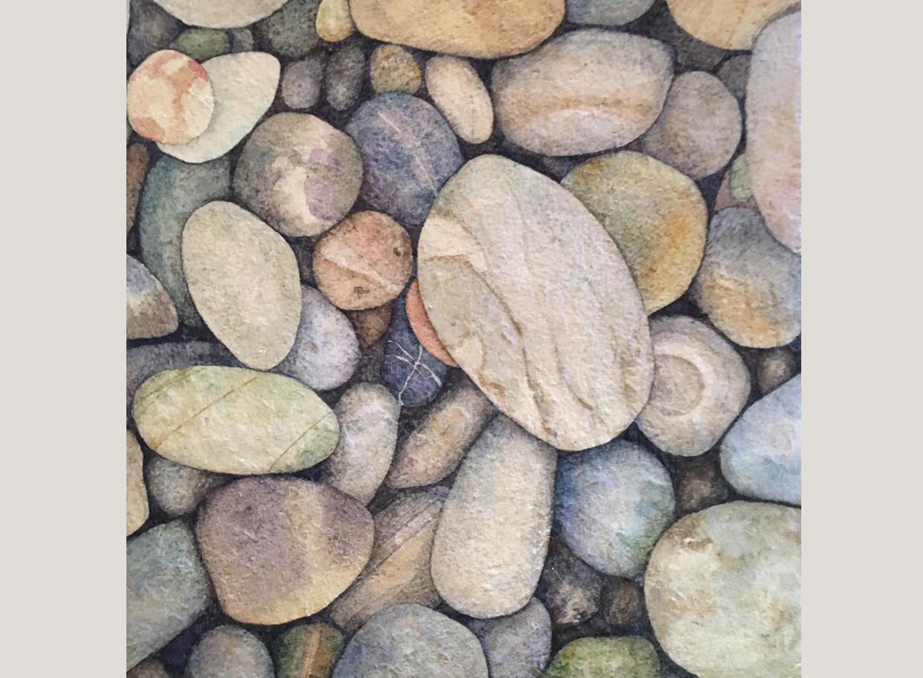 Tumbled Beach Pebbles I