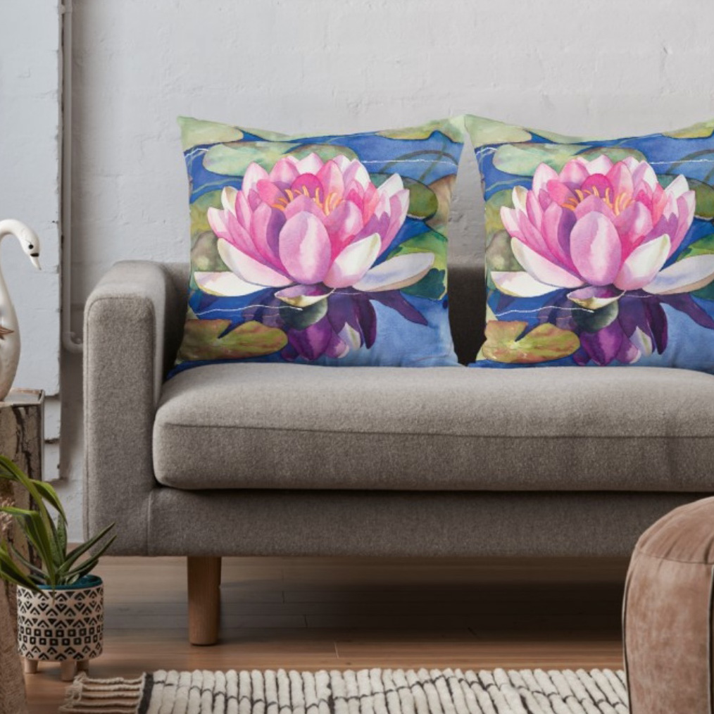 Pink-Water-Lily-Throw-Pillow-24x24.jpeg
