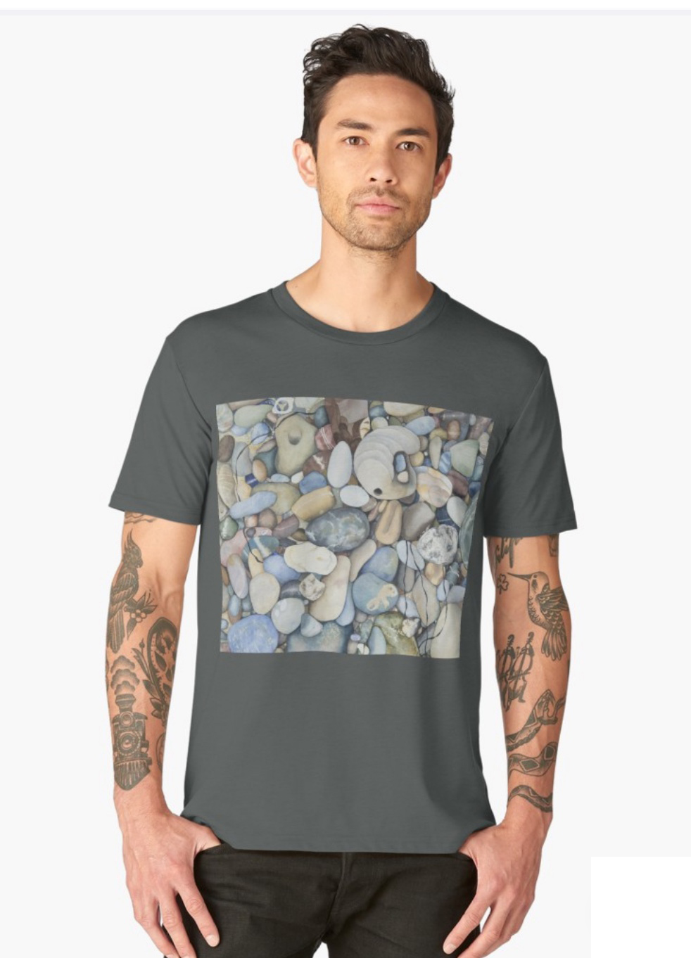 Pescadero Beach Pebbles - This design is available in men's, women's and kids' apparel, home decor and gift items.