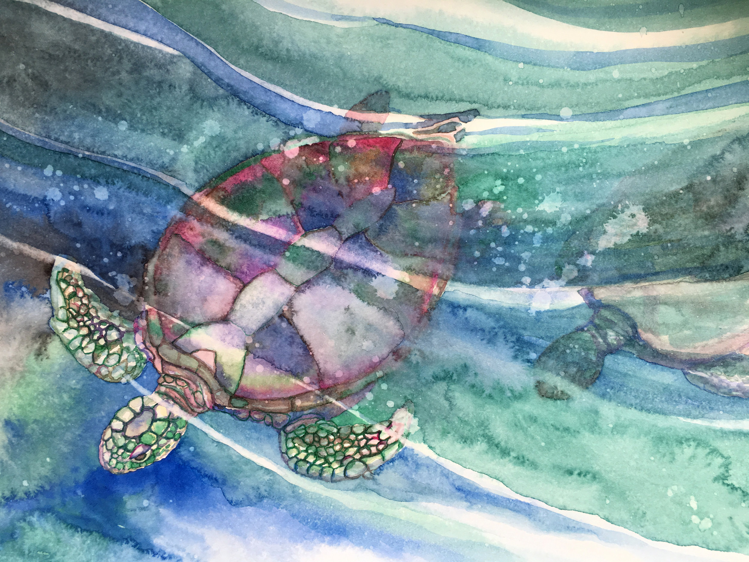 ©Gayle Mahoney- Marabu Graphix Aqua Watercolor Inks on Arches hot pressed watercolor paper