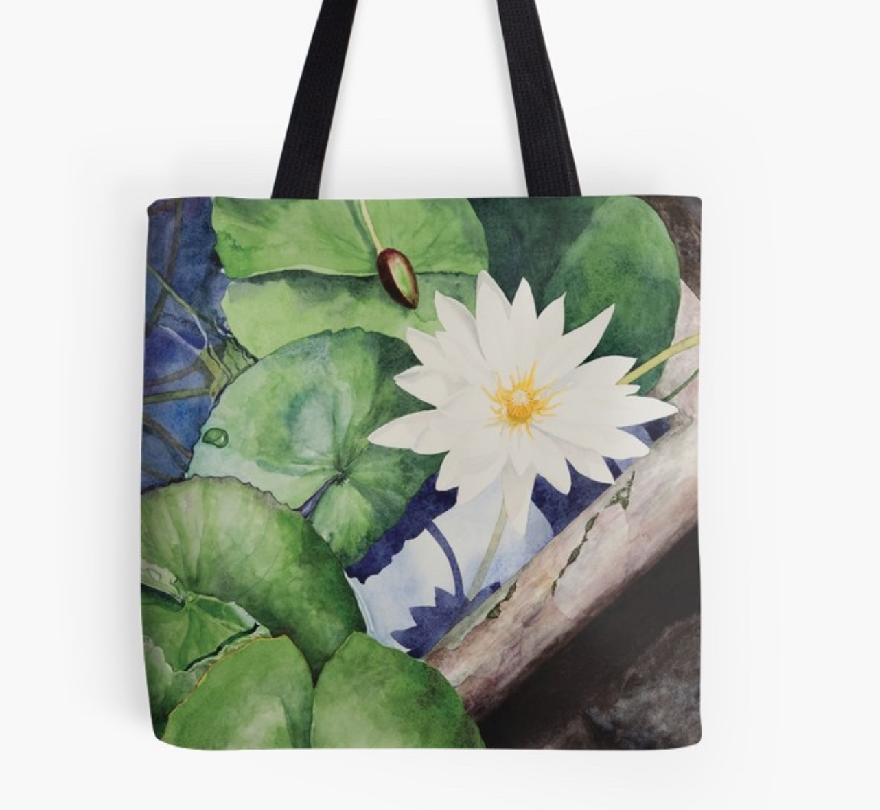 New! Greenhouse Lily Tote - This design is available in men's, women's and kids' apparel, home decor and gift items.