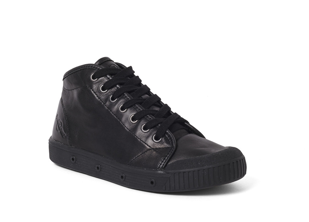 Womens Spring Court B2 Leather Black