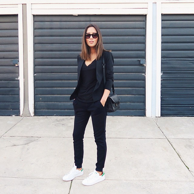 Aimee in Adidas Stan Smith