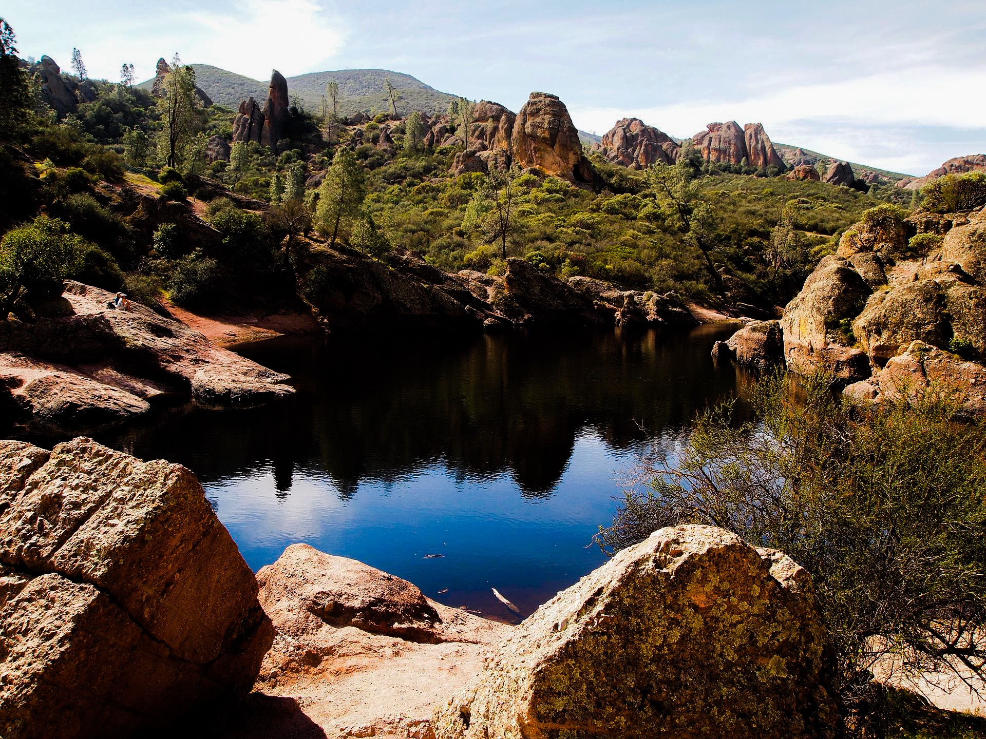 View of Bear Gulch In Pinnacles National Park. Photo by: Inklein