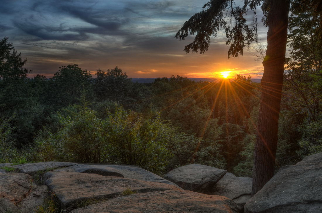 Ledges Overlook - Sunset At Cuyahoga Valley National Park  ©Jeff Burcher