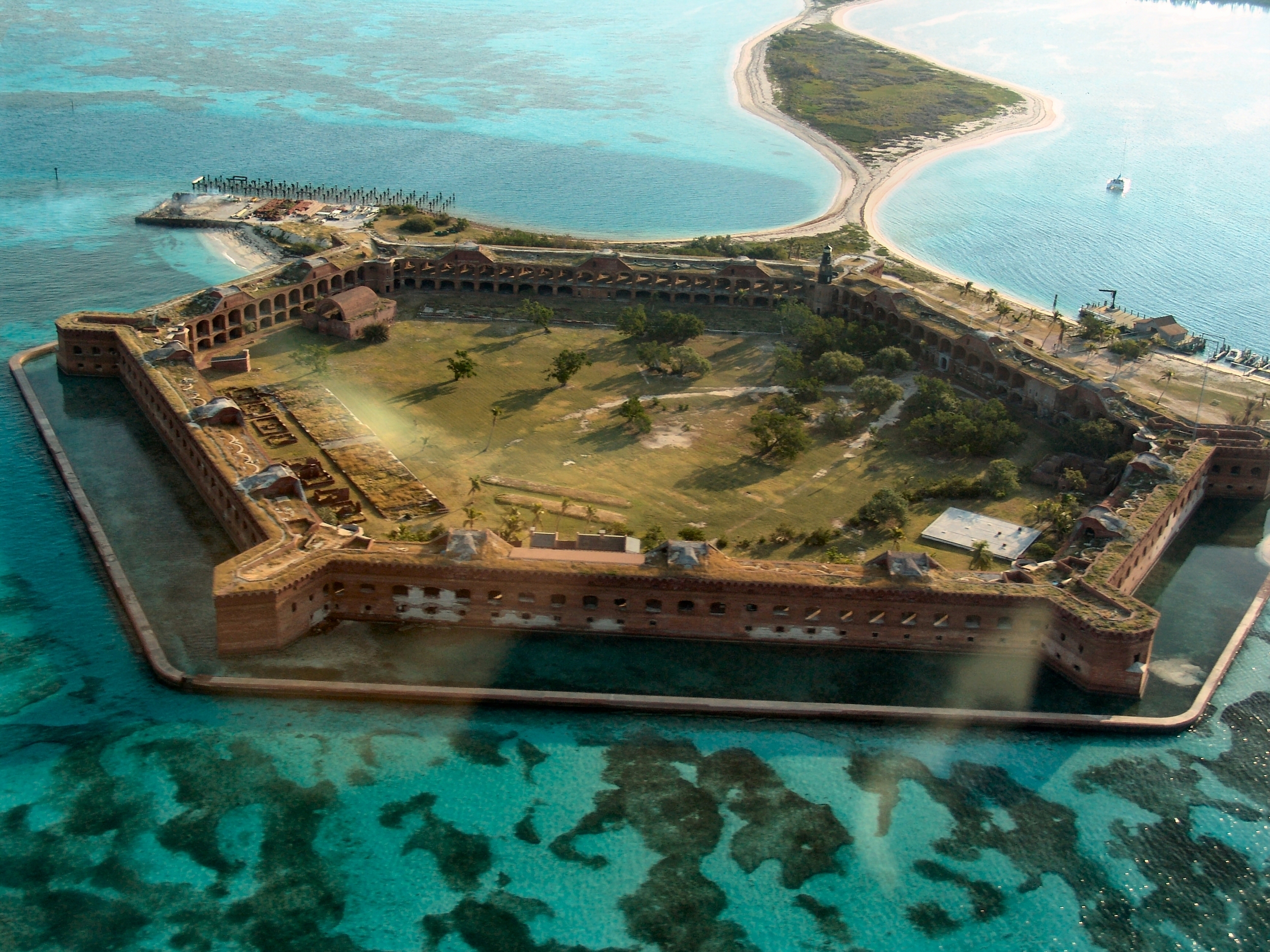 Aerial view of fort jefferson – (PHOTO: Thomas Barrat/SHUTTERSTOCK)