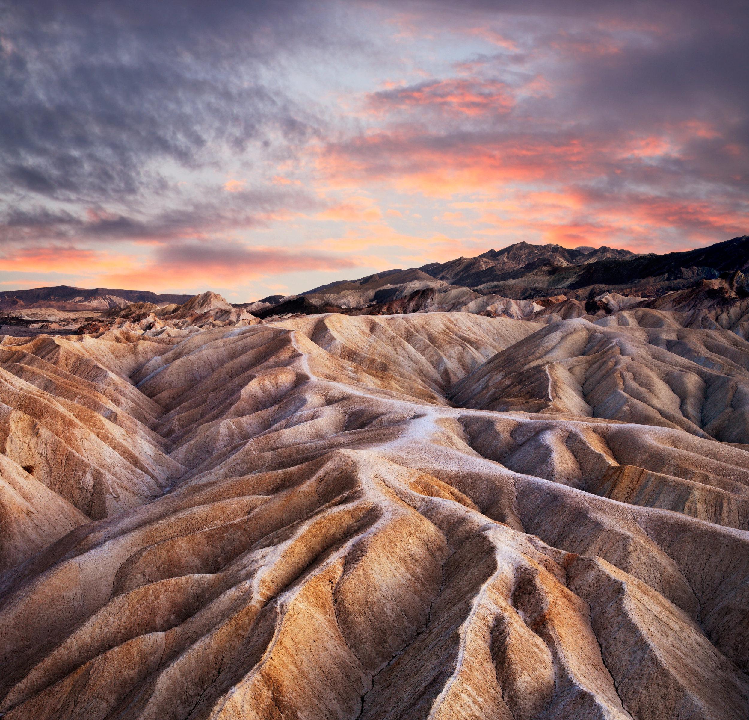 Heavily Eroded Ridges At Zabriskie Point - Death Valley National Park - California - (PHOTO: DOUG LEMKE/SHUTTERSTOCK)