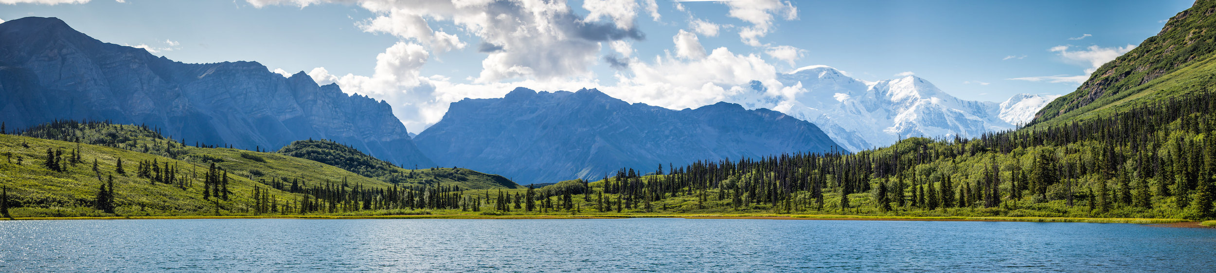 FIRST LAKE & MOUNT BLACKBURN -(PHOTO: NPS/ NEAL HERBERT)
