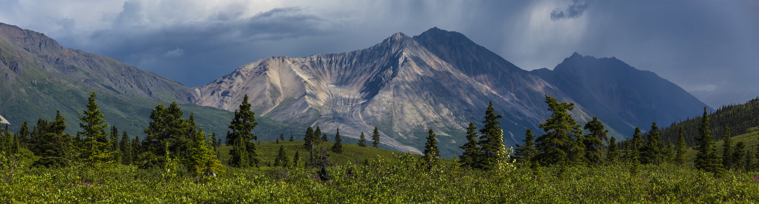 PORPHYRY MOUNTAIN & NATIONAL CREEK ROCK GLACIER FROM DONOHO BASIN -(PHOTO: NPS/ JACOB W. FRANK)