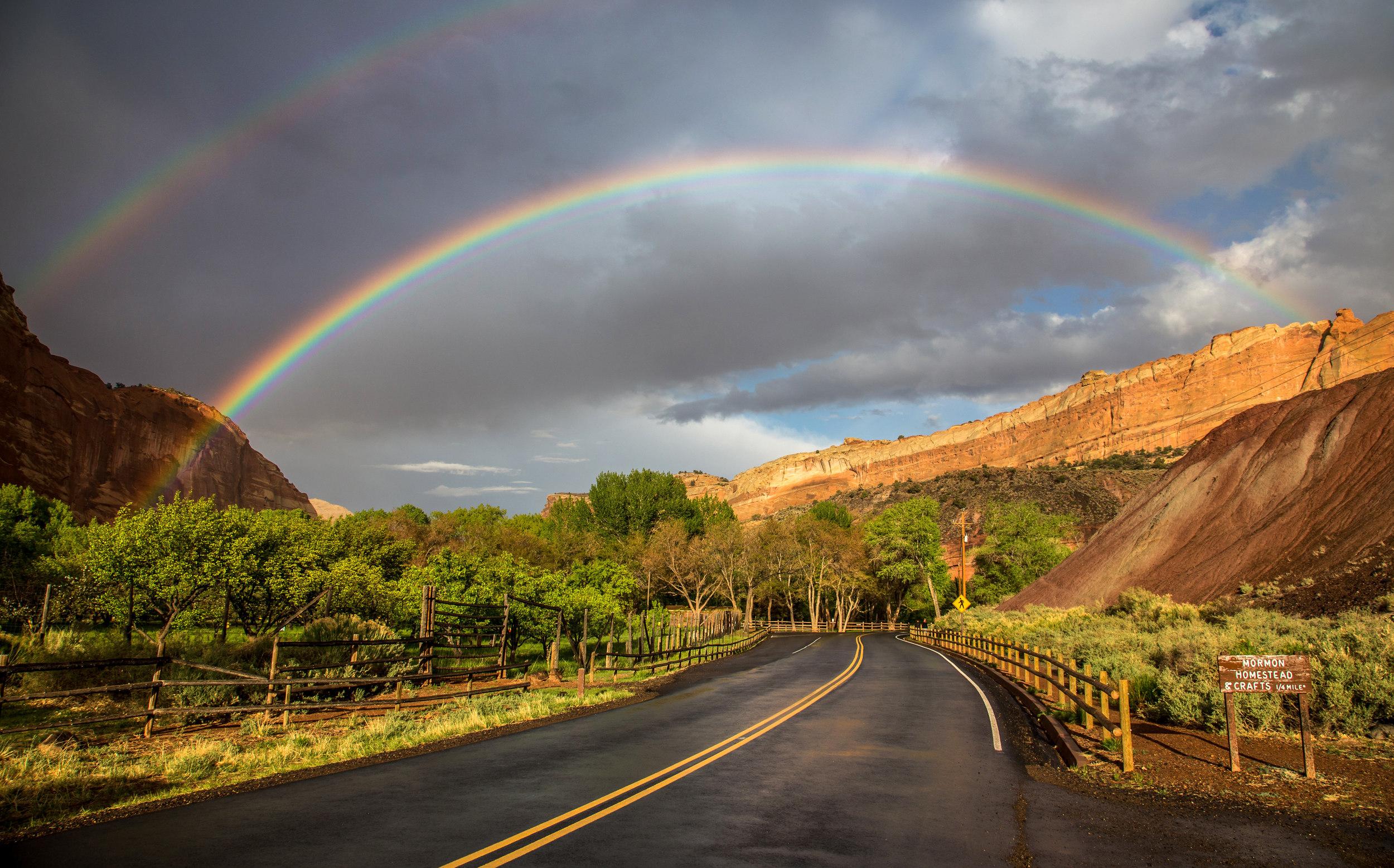 RAINBOW NEAR THE ORCHARDS –(PHOTO: PETERCLERC/SHUTTERSTOCK)