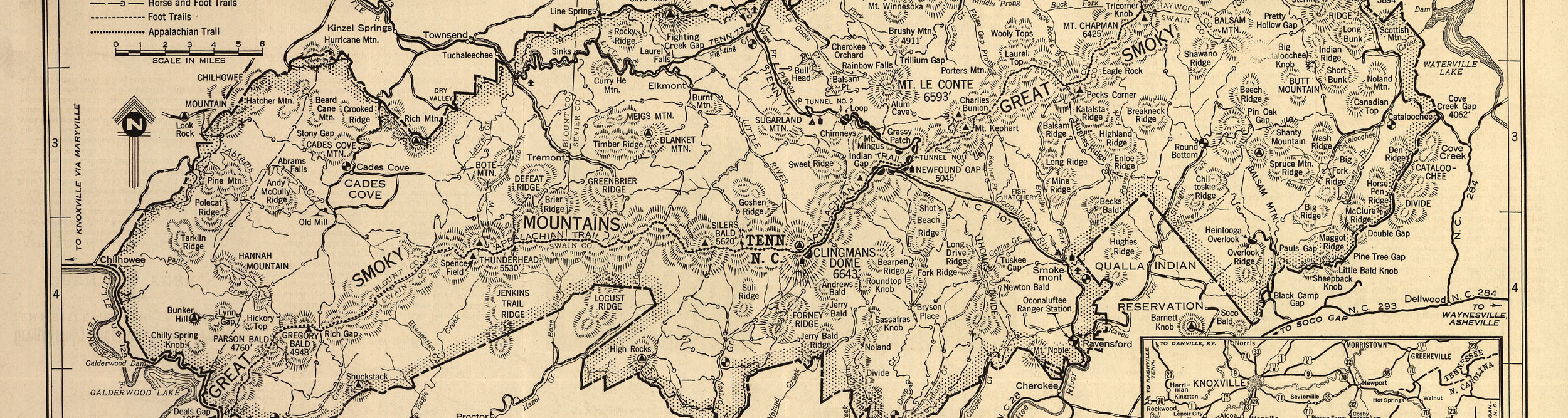 Great Smoky Mountains National Park Map 1941
