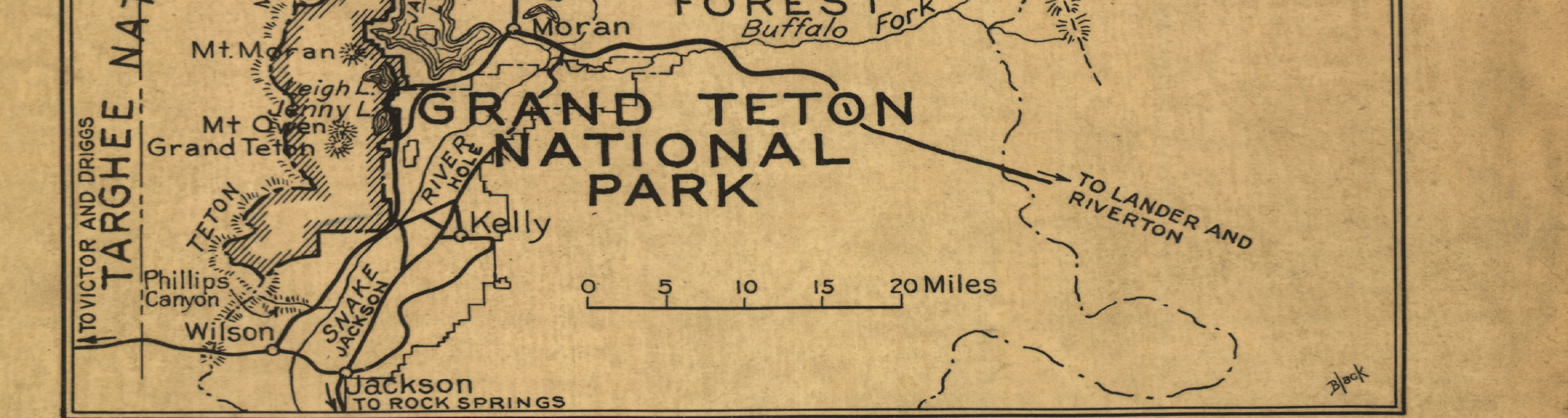 Yellowstone National Park Map 1929