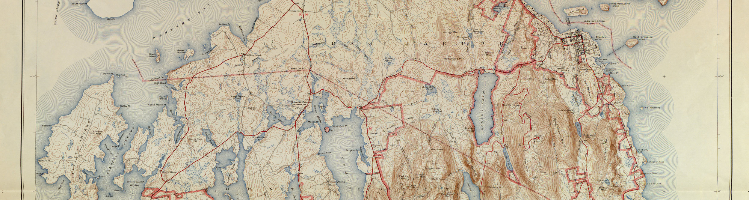 Acadia National Park Map 1942