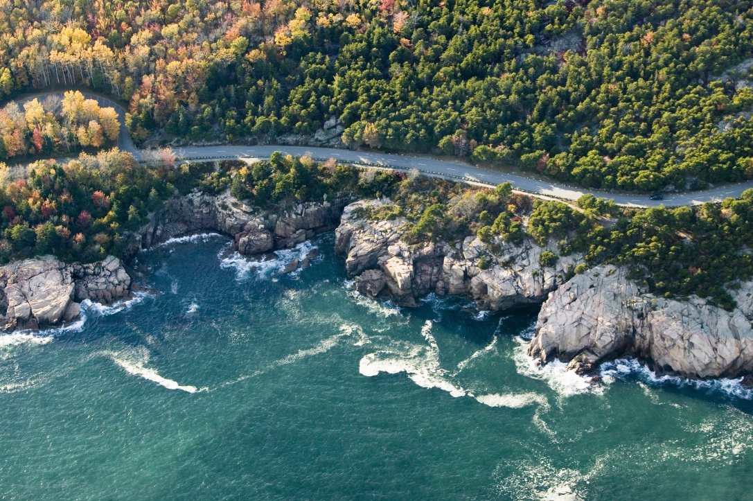 (The beautiful coastline of Acadia National Park during Fall - Photo by  Joseph Sohm /SHUTTERSTOCK)