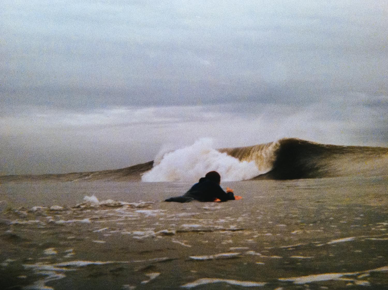 1998 - Long Beach, NY - Tom Zaffuto paddling out