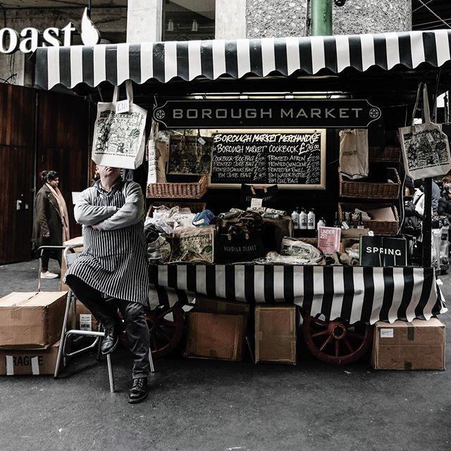 Hiding behind merch 🙈 #boroughmarket